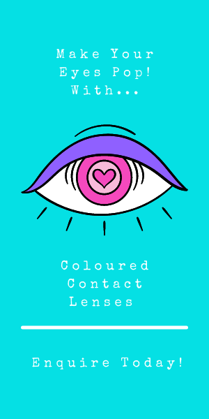 Make your eyes pop with coloured contact lenses